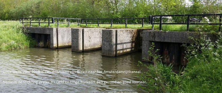 Haalbaarheidsstudie voor doortrekken van Linge naar Amsterdam-Rijnkanaal
