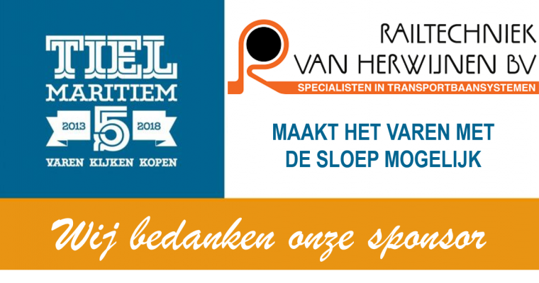 Sloepsponsor Railtechniek Van Herwijnen