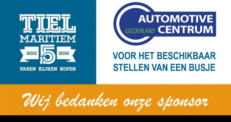 Automotive Centrum Gelderland sponsor van Tiel Maritiem.