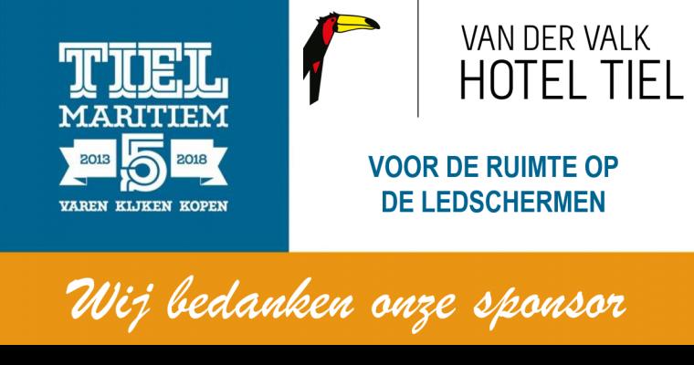 Van der Valk Hotel Tiel is sponsor van Tiel Maritiem